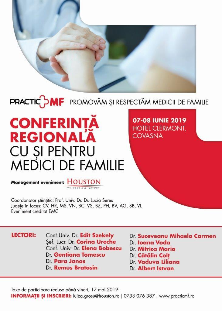 Prezentari practice si studii de caz pentru medicii de familie in cadrul Practic MF Covasna, Hotel Clermont, 07-08 iunie